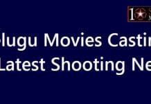 Telugu Movies Casting and Shooting News
